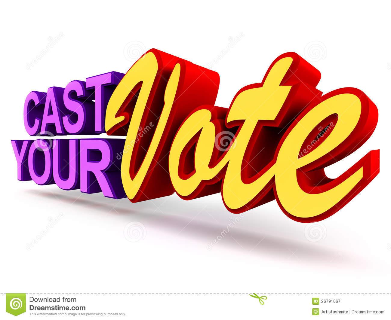 2777 Vote free clipart.