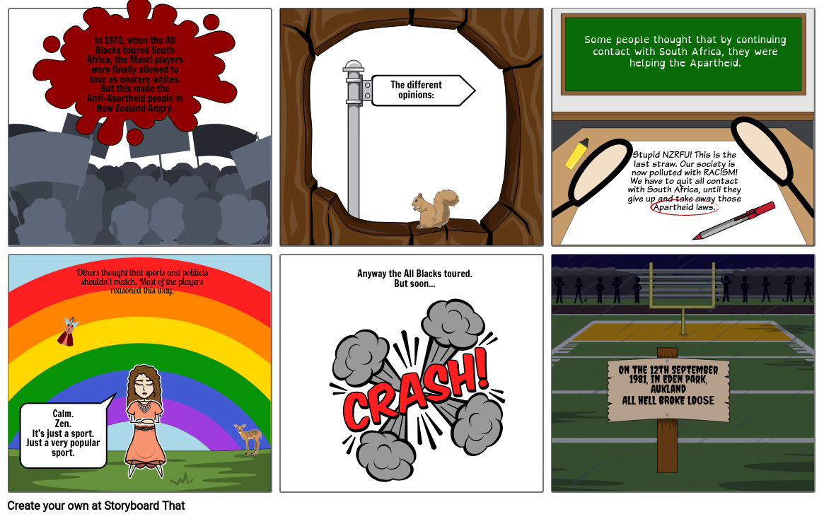 Part 2 Springbok Tour. Storyboard by 280452d0.