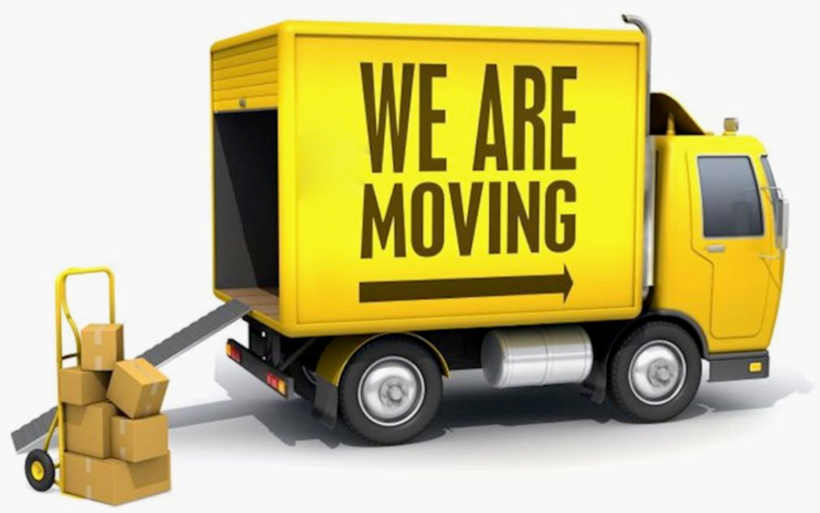 We\'re Moving Truck Clipart.