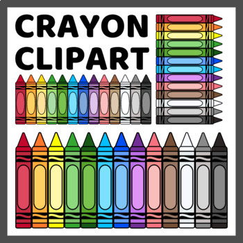 Crayon Clip Art for Commercial Use (350 IMAGES).