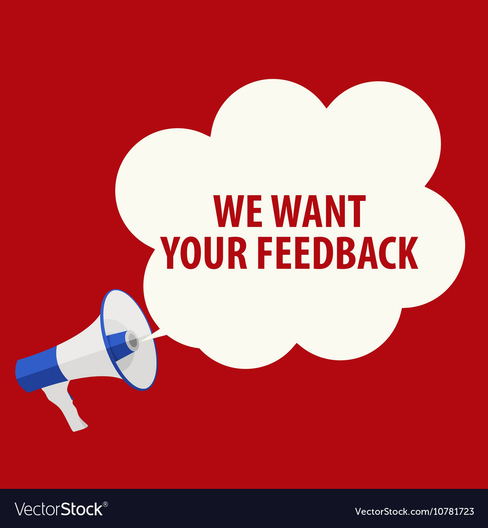 We Want Your Feedback Background Hand with.