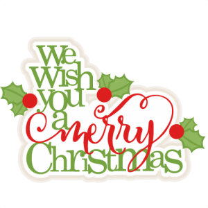 We Wish You A Merry Christmas scrapbook title christmas cut.