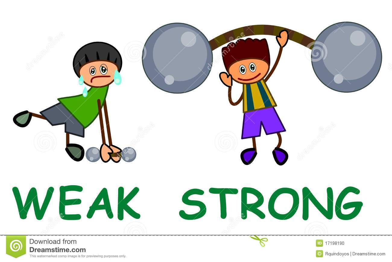 Strong and weak clipart.