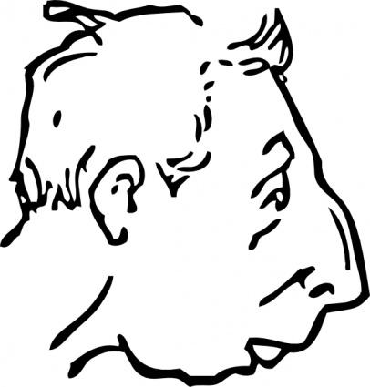 Weak Chin clip art Clipart Graphic.