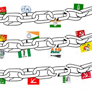 India needs a weak coalition government.
