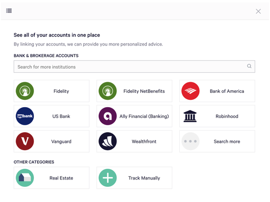 How do I track an account, asset, or liability in my plan.