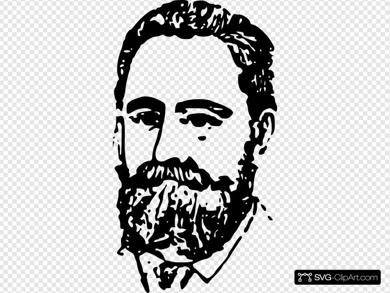 Wealthy Person With Moustache 2 Clip art, Icon and SVG.