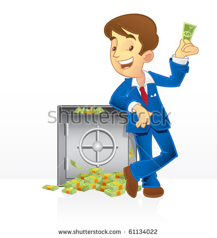 Rich Man Cartoon Stock Images, Royalty.