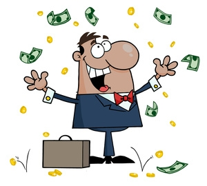Rich Man With Money Clipart.