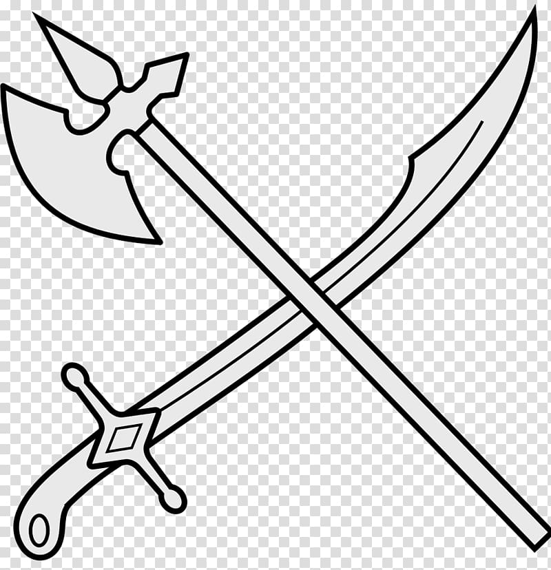 Sword Drawing Weapon , axe logo transparent background PNG.