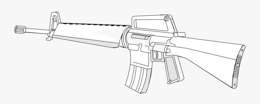 Clipart Black And White Rifle , Free Transparent Clipart.