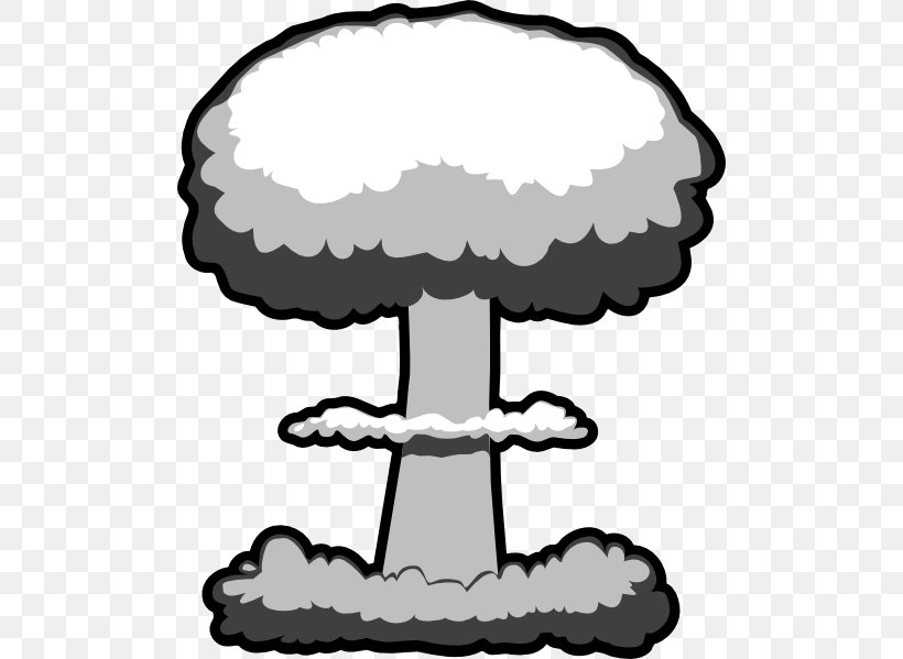 Nuclear Weapon Bomb Explosion Clip Art, PNG, 498x599px.