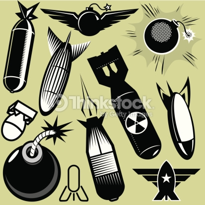 Design Elements Bombs Vector Art.