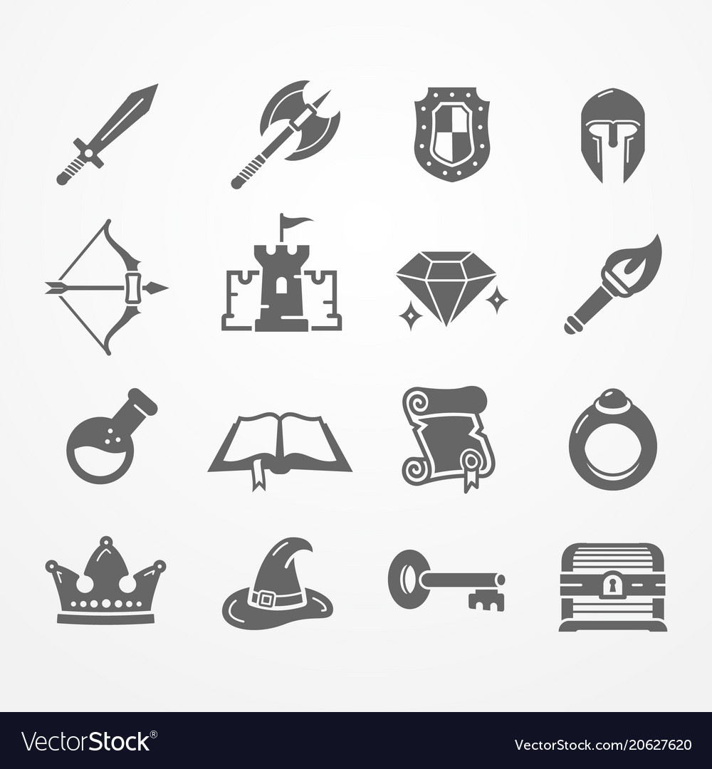 Rpg pc game icons.