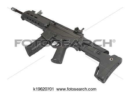 Stock Photography of Adaptive Combat Weapon System isolated.