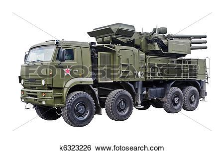 Stock Images of Pantsyr S1 Air Defence Missile Gun System k6323226.