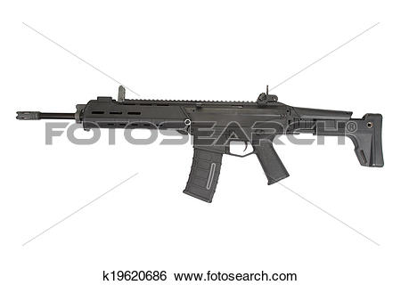 Stock Images of Adaptive Combat Weapon System isolated k19620686.