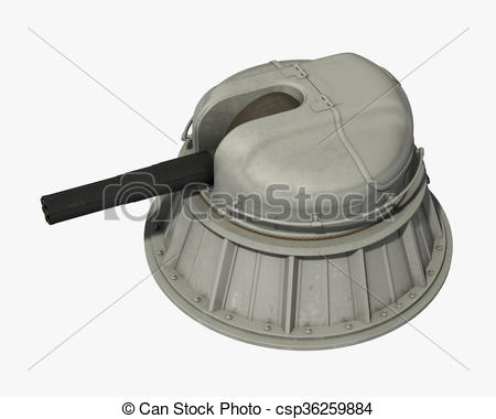 Stock Illustration of Russian Automatic Naval Close.