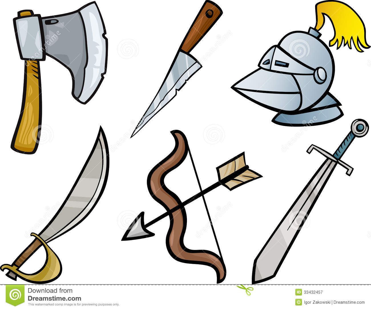 Iron Weapons Clipart.