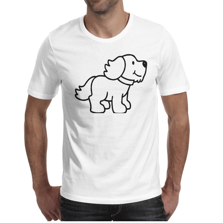 Amazon.com: Men\'s T Shirts Dog Puppy Clipart Black And White.