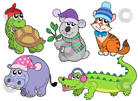 Animals In Clothing Clipart.