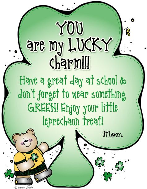 Reminding kids to wear green for St. Patrick\'s Day made.