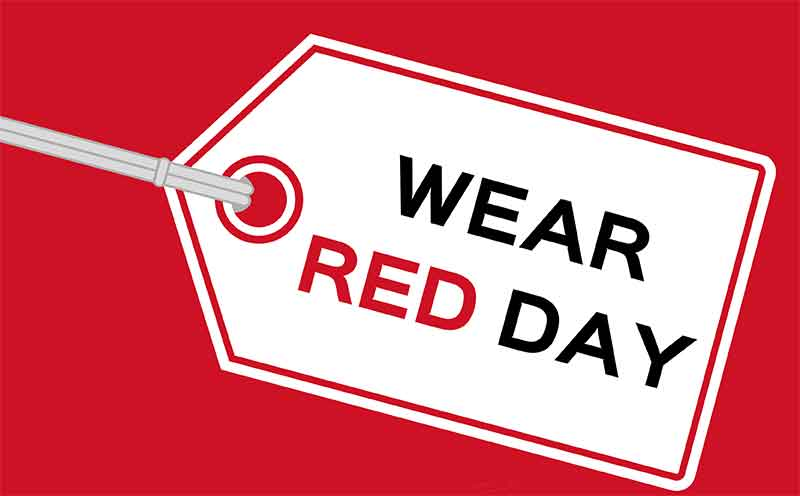National Wear Red Clipart.