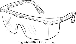 Wearing Safety Goggles Clip Art.