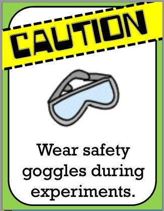 Wear safety goggles during experiments. They help protect.