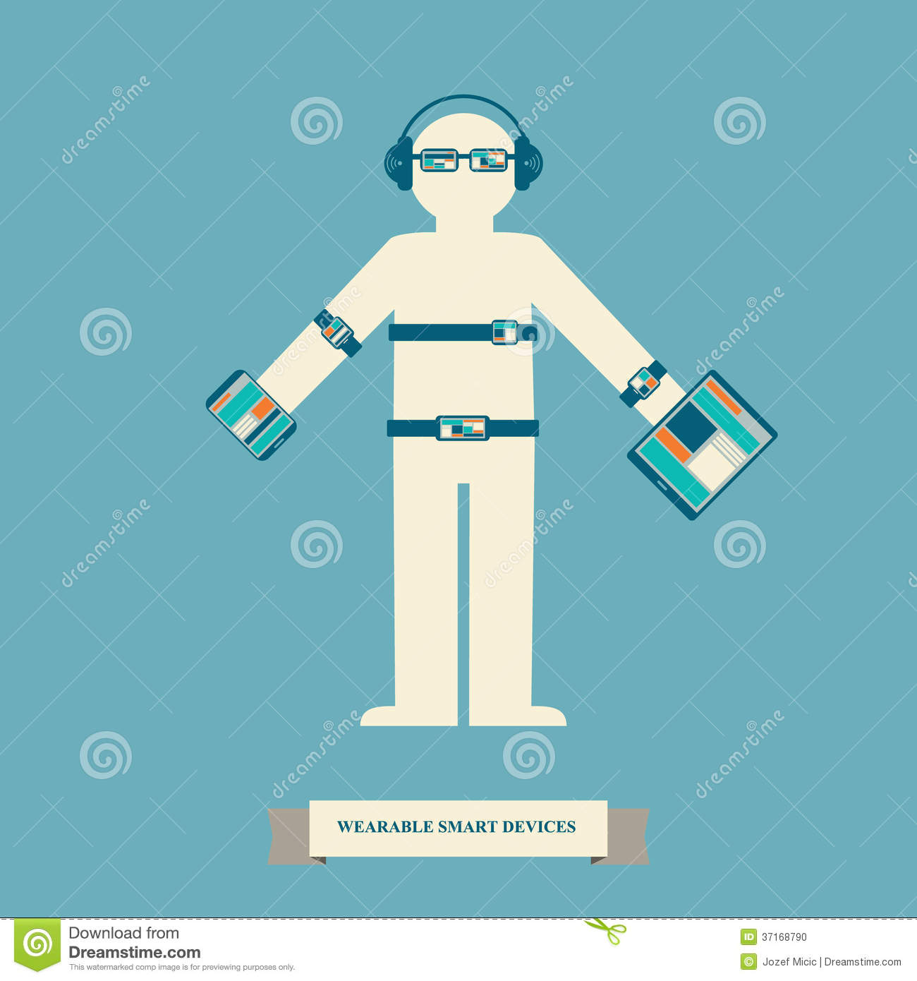Smart Devices Clipart.
