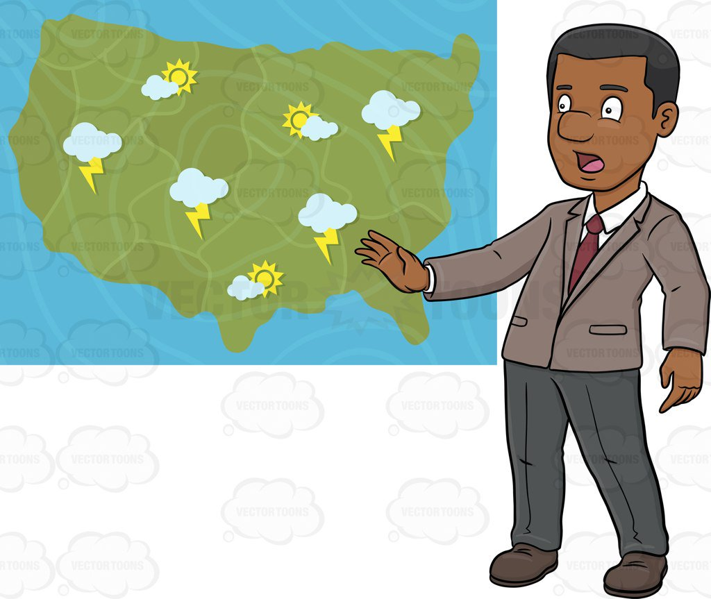 Weather Person Clipart.