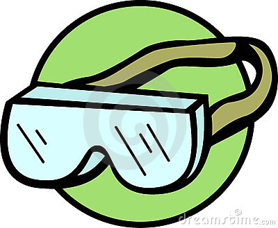 Lab Safety Goggles Clipart.
