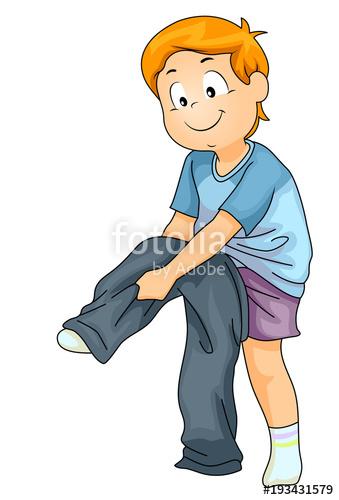 Kid Boy Wearing Jeans Illustration\