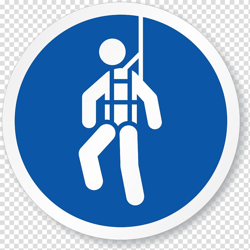 Person wearing harness logo, Safety harness Personal.