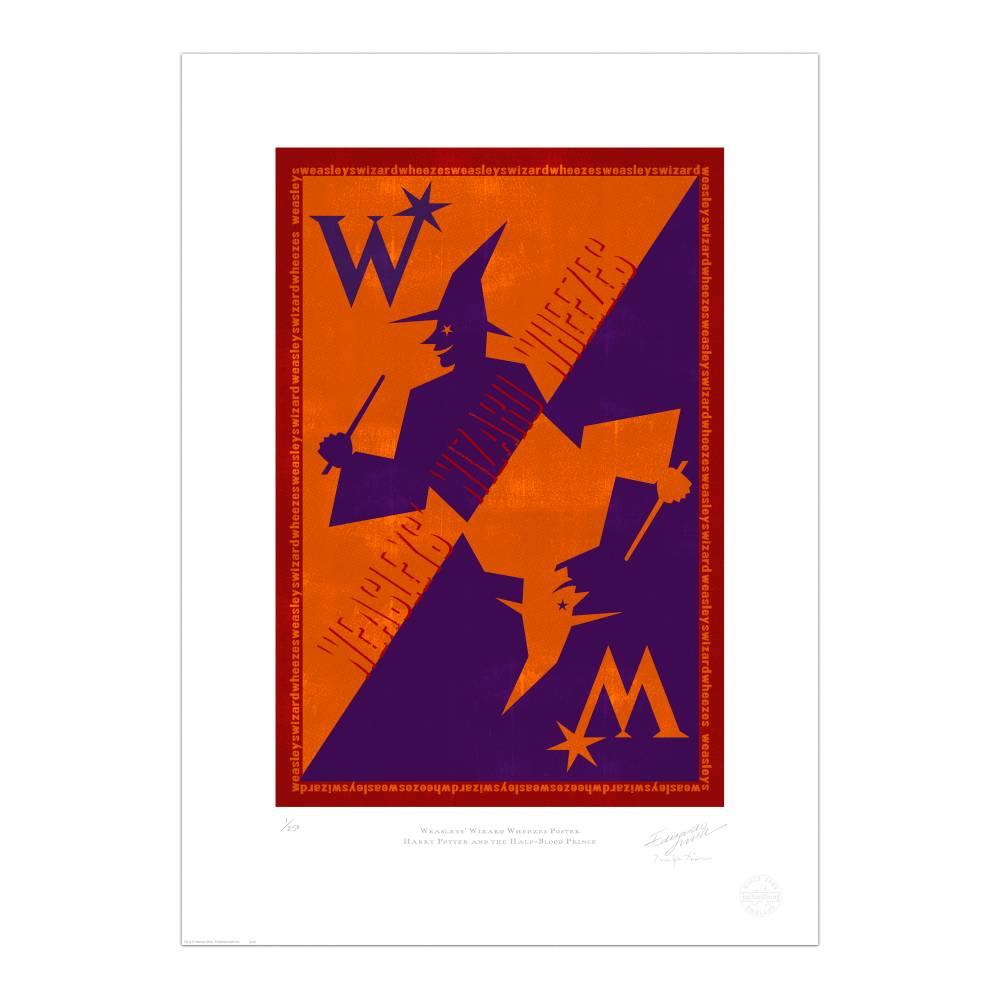 Weasleys\' Wizard Wheezes Advertisement Print.