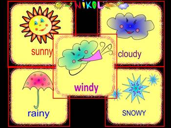 Weather Weather cards Clip Art End of the year activities.