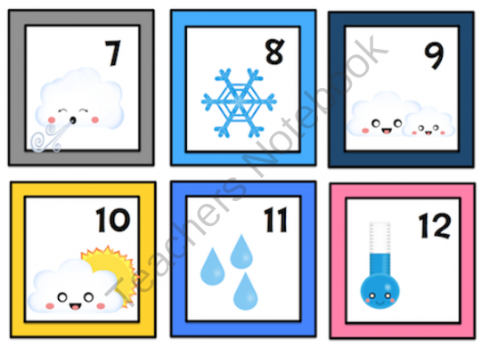 Weather Number Cards 1.