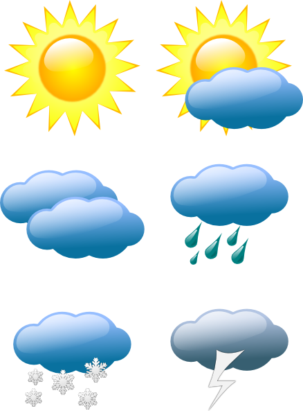 Weather Symbols Clip Art at Clker.com.