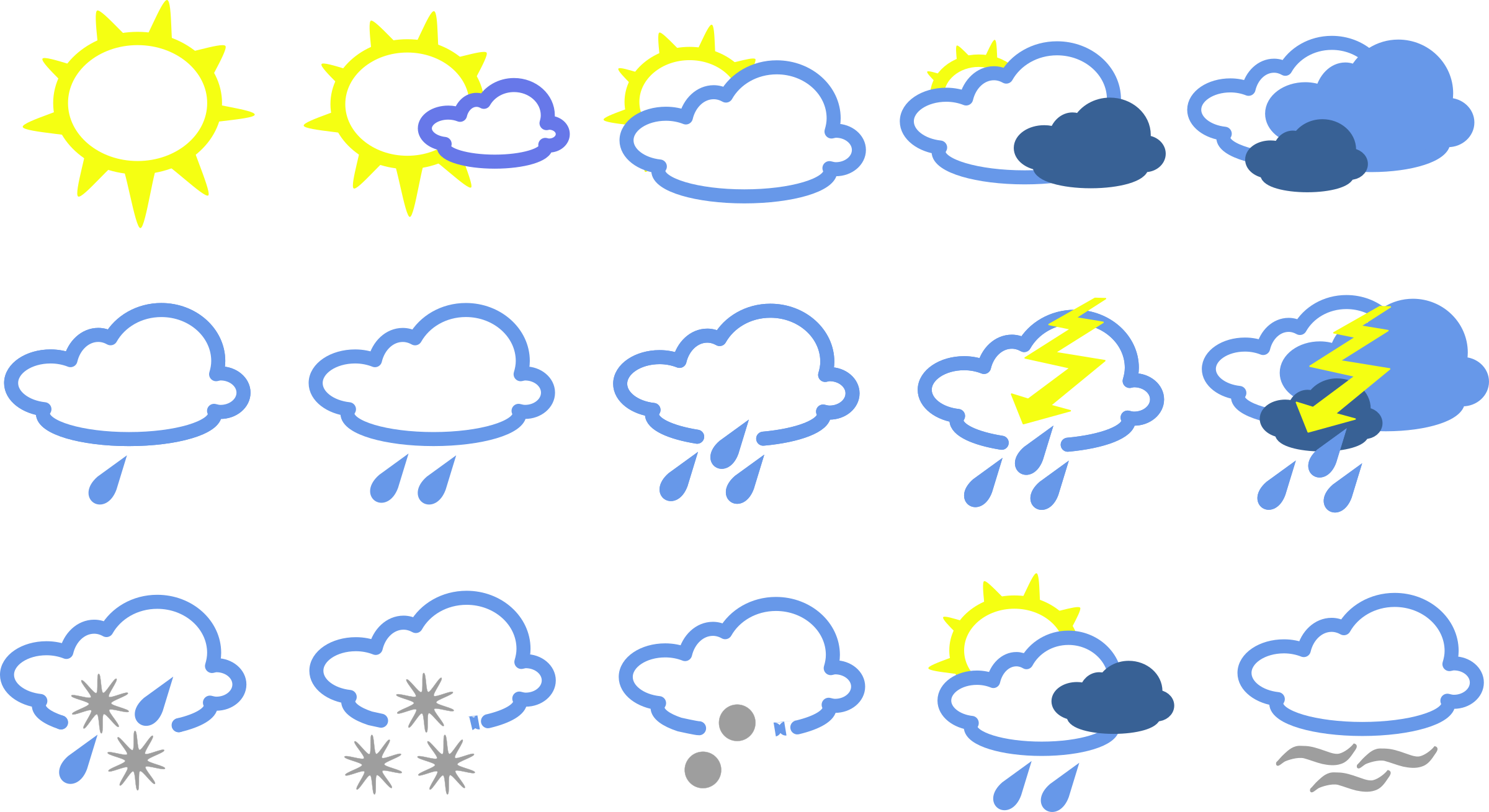 Cloudy clipart wather, Cloudy wather Transparent FREE for.