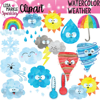 Weather Clipart Watercolor.