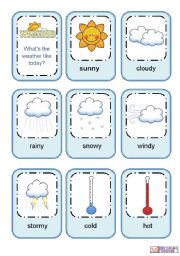 weather clipart flashcards #3