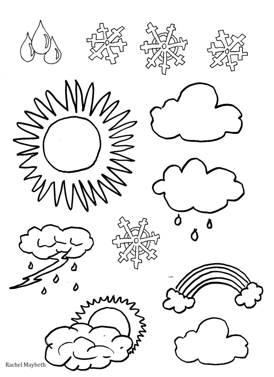 Rachel Maybeth : Free Weather Clipart /Coloring pages.