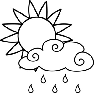 sun with cloud clipart #2