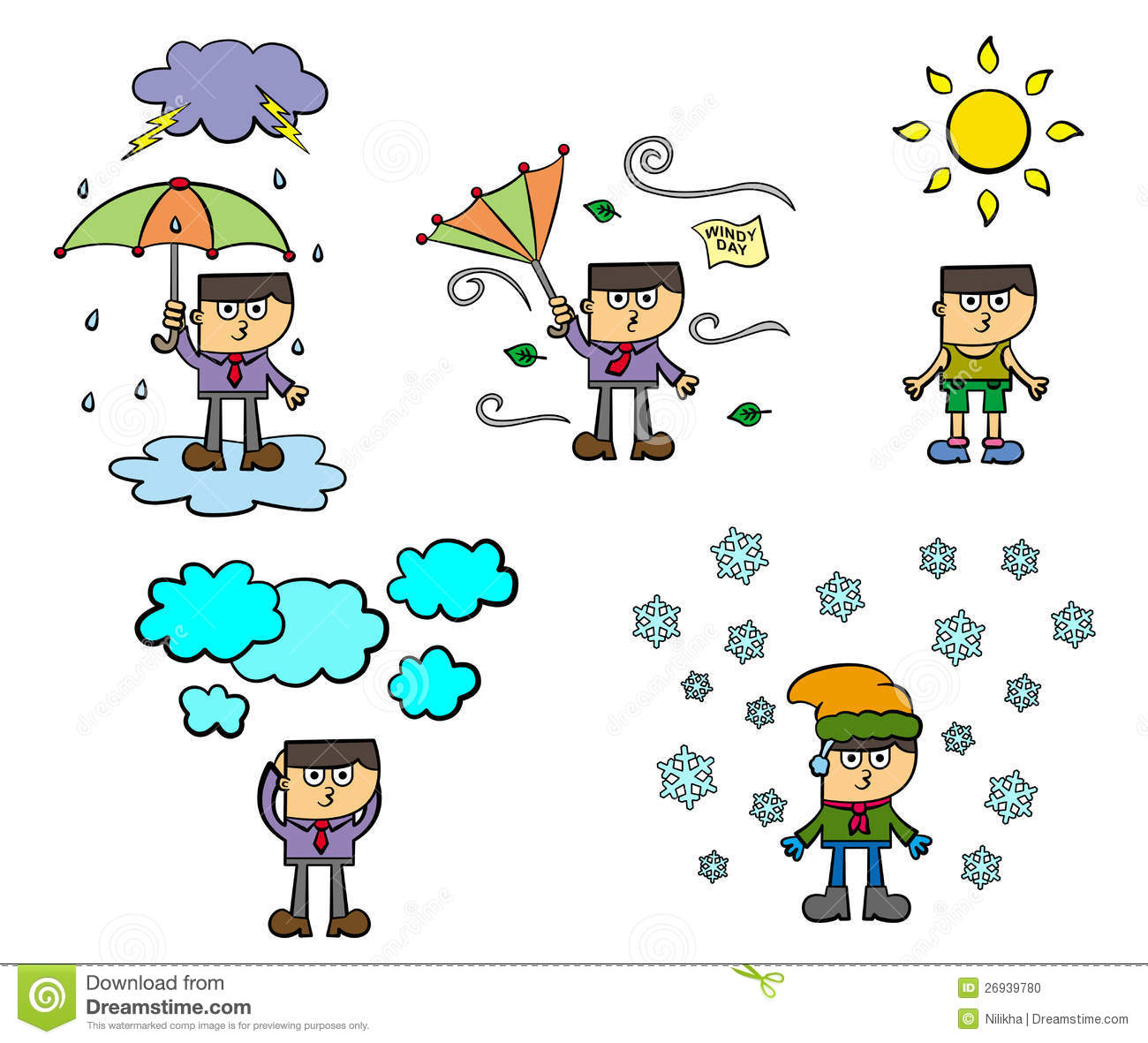 Weather Conditions Clipart.