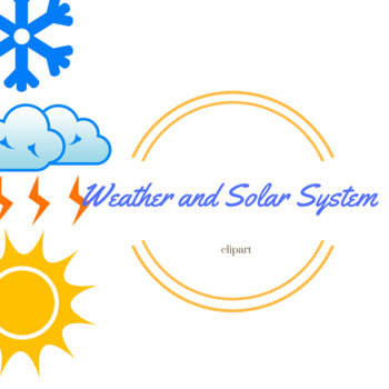Weather and Solar System Clipart.