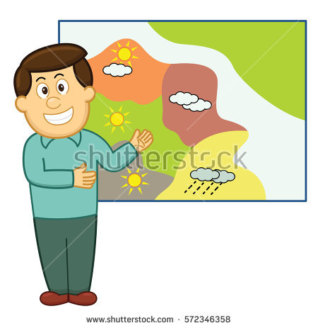 Weatherman Stock Images, Royalty.
