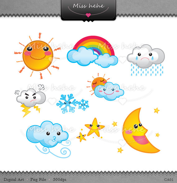 Cute Weather Icons.
