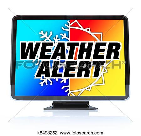 Clip Art of Weather Alert.