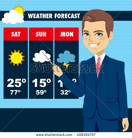 Weather Forecast Stock Images, Royalty.