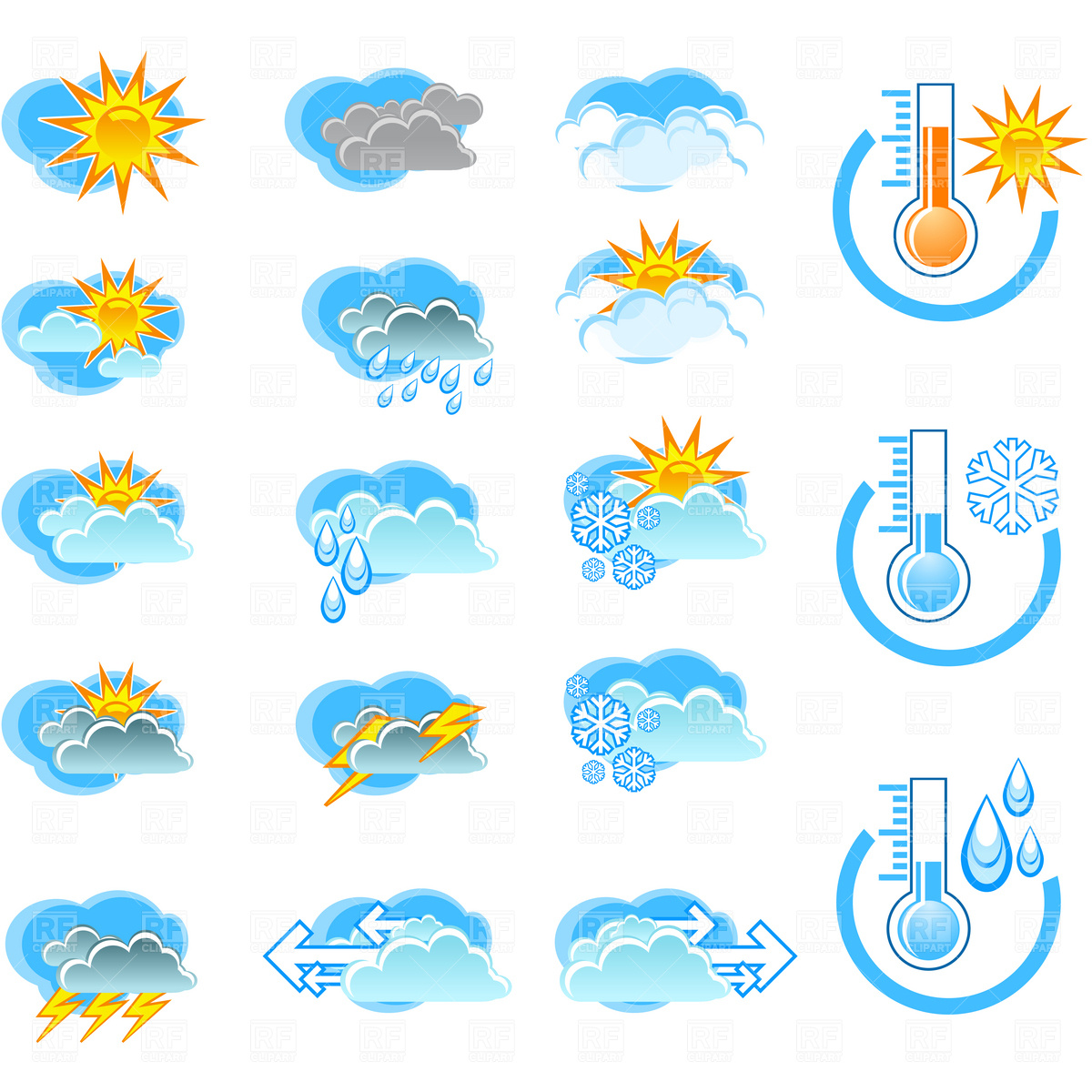 Weather Forecast Clipart.